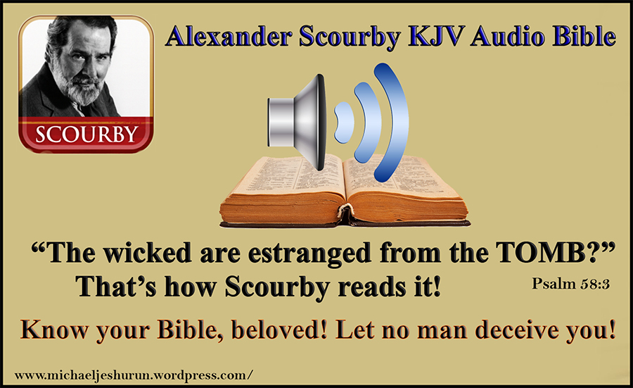 Alexander Scourby Misreading The Bible